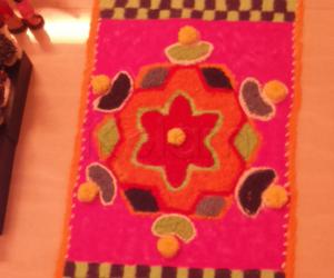 Rangoli: carpet kolam for navarathiri