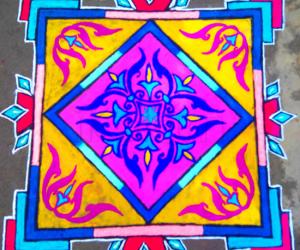 Carpet designed Rangoli