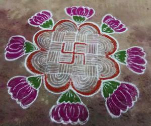 Rangoli: freehand rangoli design