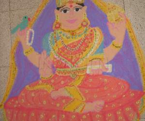 Rangoli: sharada devi rangoli