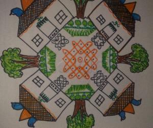 Rangoli: House rangoli