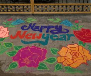 Rangoli: New Year Rangoli - 2015