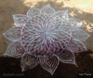 rangoli in double strokes