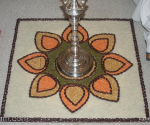 Rangoli: Rangoli with grains