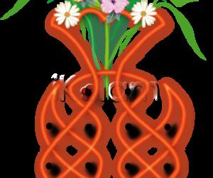 Bouquet of flowers rangoli