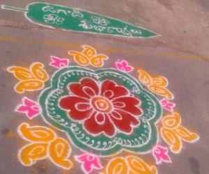 Rangoli: Muggu on this Ugadi