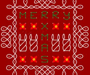 Merry Christmas Poinsettia Rangoli