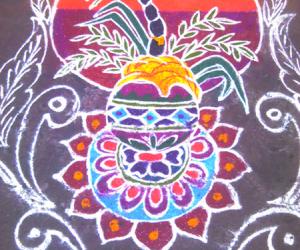 Rangoli: pongalo pongal rangoli