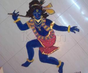 Rangoli: Dancing Krishna - Navaratri 2011