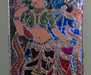 Glass painting - Radha krishna