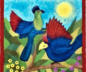 TURACO BIRDS RANGOLI - DIWALI 2018