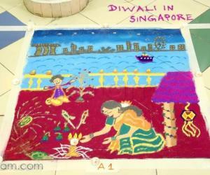 Diwali rangoli contest 2017
