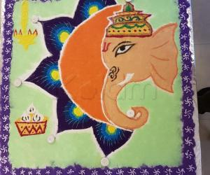 Ganesha Rangoli for Diwali contest 2017