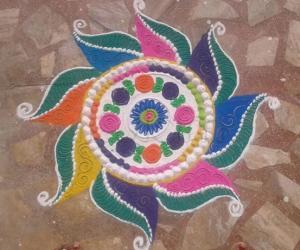 Diwali rangolis