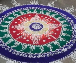 Diwali rangoli - 2