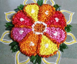 Rangoli: Pookalams for Onam 2015