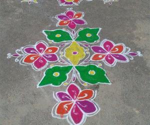 Ugadi rangoli made by me :-)