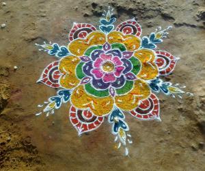 Free hand flower design