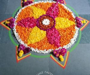 Rangoli: Onam pookalam