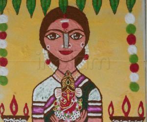Rangoli: Happy Gowri Ganesha