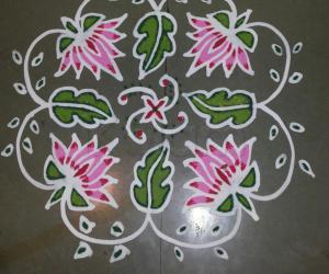 Rangoli: floral maakolam
