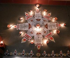 Rangoli: Happy Karthigai Deepam