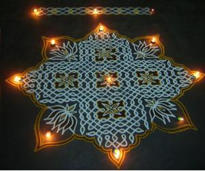 Margazhi dew drops kolam contest -2012