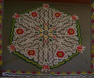 Rangoli: Happy Holi and Woman's Day