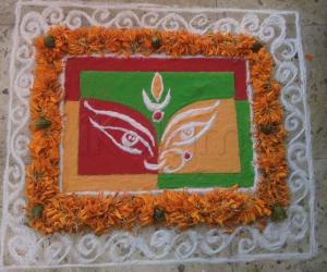 Rangoli: Dussehra Rangoli