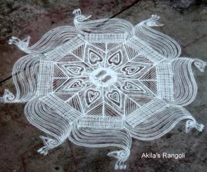 Rangoli: Krishna Jayanthi kolam