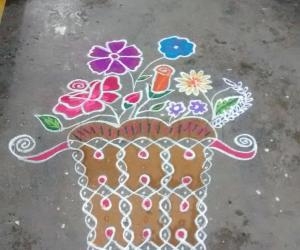 Rangoli: Freehand and dotted