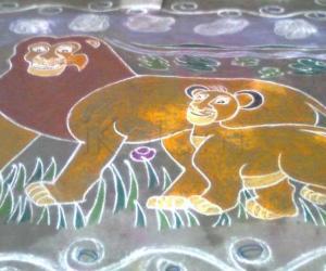 Rangoli: Lion king