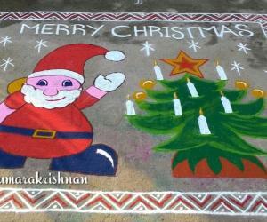 Rangoli: Margazhi Utsavam Day 9 - Merry Christmas 2016