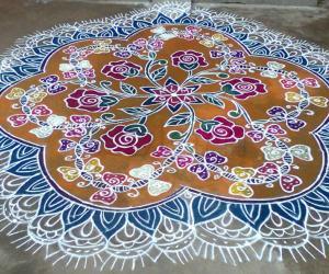 Rangoli: Rose Garden