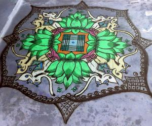 Lotus Rangoli (with filter effects)