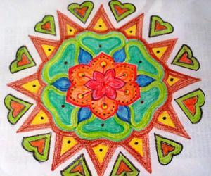 Margazhi Utsavam Day-24 (Crayon Rangoli)