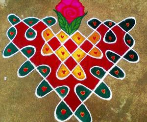 Rangoli: Valetines Day