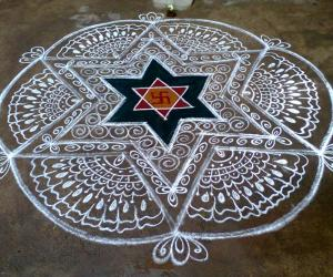 Rangoli: Freehand Design for Tamil New Year