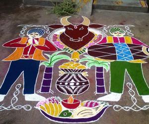 Rangoli: Happy Mattu Pongal 2014