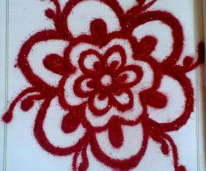 Rangoli: Funny ideas - Notebook kolam with kolapodi