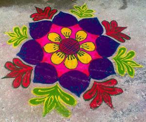 Rangoli: Happy Mattu Pongal 2015