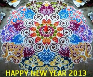 Rangoli: Happy New Year 2013