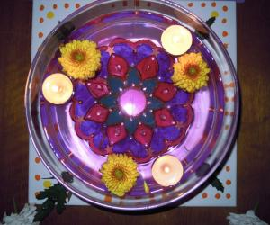 Rangoli inside water