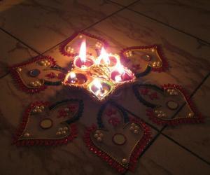 Craft Rangoli for Kartheeka maasam