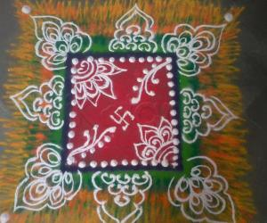 Free Hand Shaded Rangoli