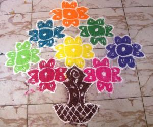 Easy Rangoli from my friend