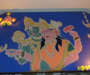 DeepaavaLi at home - Diwali rangoli contest - 2013
