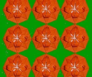 Origami flower star