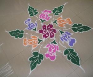 Rangoli: Cute Kolam