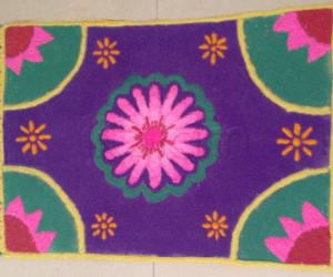Carpet kolam